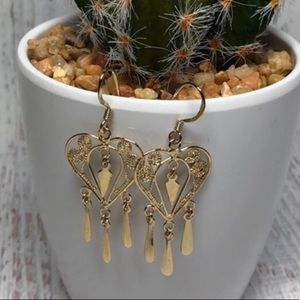 Gold plated Sterling 925 Stamped ❤️ HEART Earrings